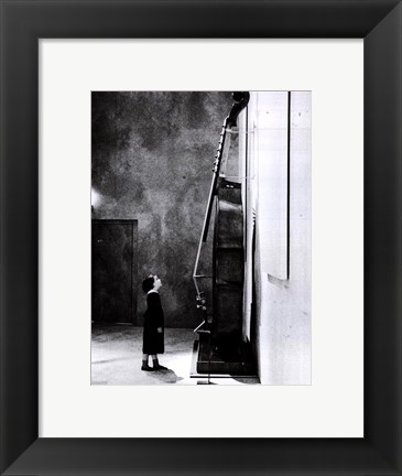 Framed Little Girl with Jean-Baptiste Vuillaume Print