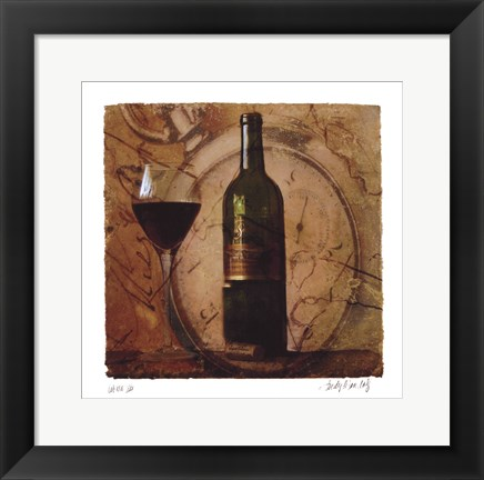 Framed Wine III Print