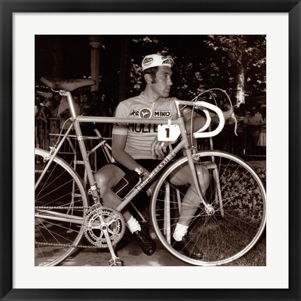 Framed Incomparable Eddy Merckx Print