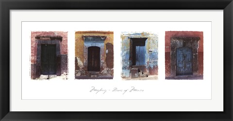 Framed Doors of Mexico Print