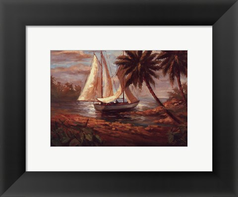 Framed Setting Sail I Print