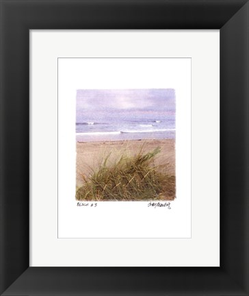 Framed Beach #3 Print