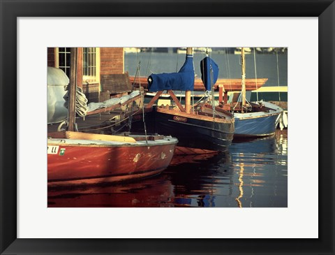 Framed Spree at the Dock Print