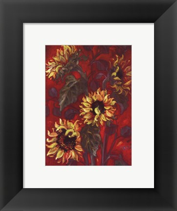 Framed Sunflowers I Print