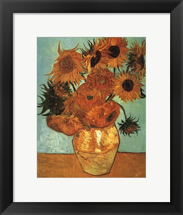 Framed Sunflowers No 2 Print