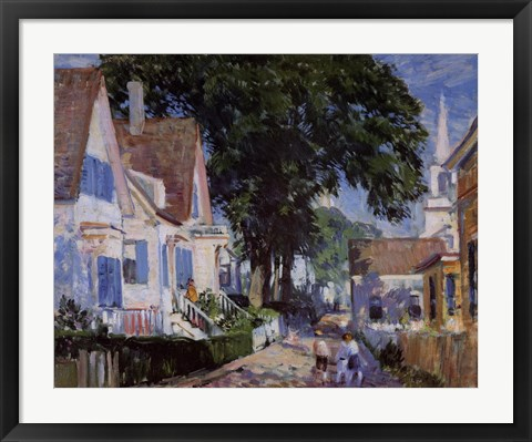 Framed Street In Provincetown Print