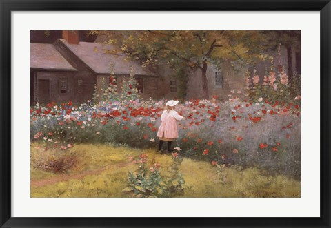 Framed Poppy Garden Print