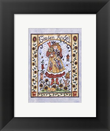 Framed Garden Angel Print