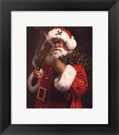 Framed Spirit of Santa Print