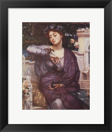 Framed Libra and Her Sparrow 1907 Print