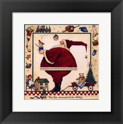 Framed Tis The Season To Be Jolly Print