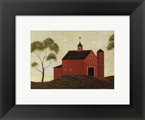 Framed Red Barn Print