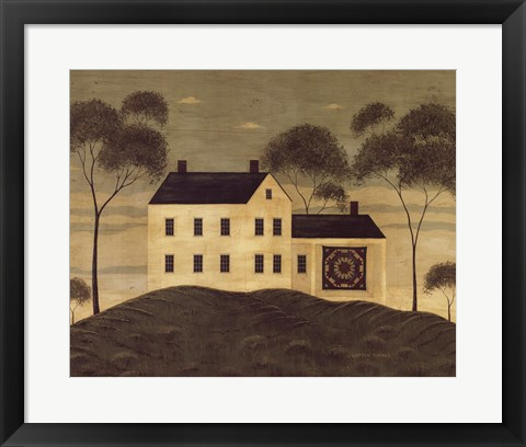 Framed House with Quilt Print