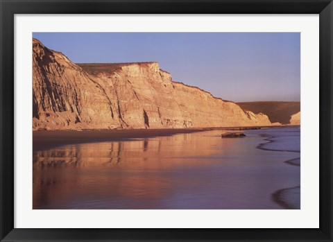 Framed Pacific Sunset Reflections Print