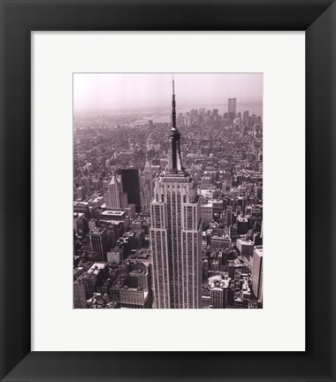 Framed Empire State Building / World Trade Center Print