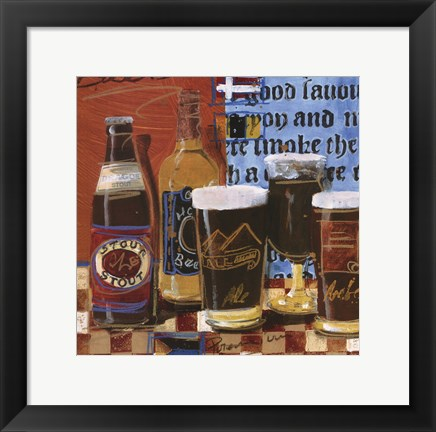 Framed Beer and Ale I Print