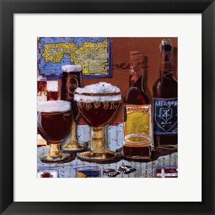 Framed Beer and Ale IV Print