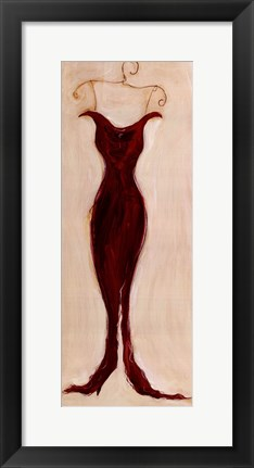 Framed Red Evening Gown Print