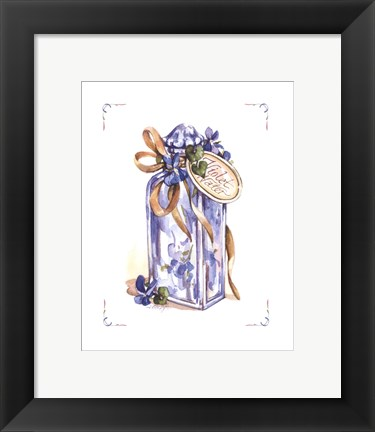Framed Violet Water Print