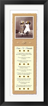 Framed Best of Friends-Thoughts Print