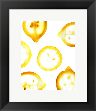 Framed Lemon Yellow Print