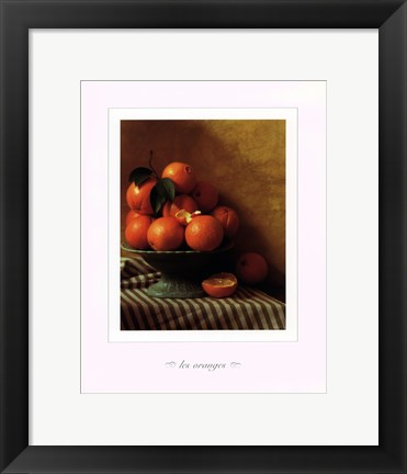 Framed Still Life with Oranges Print