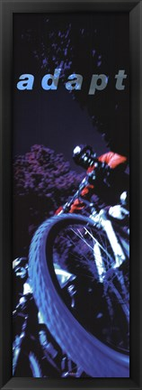 Framed Adapt-Mountain Biker Print