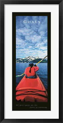 Framed Goals-Kayak Print