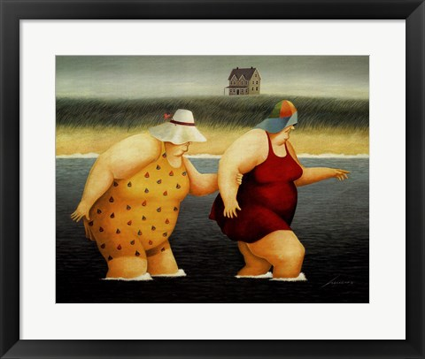 Framed Judy and Marge Print