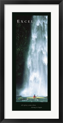 Framed Waterfall-Excel Print