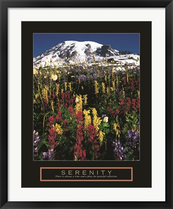 Framed Serenity - Mt. Rainier Print