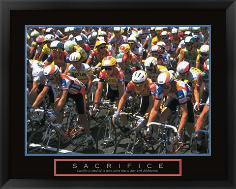 Framed Sacrifice - Starting Line Bicycle Race Print