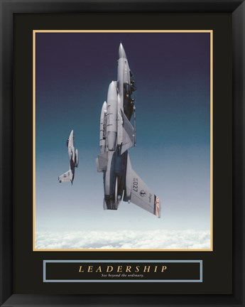 Framed Leadership - Planes Print