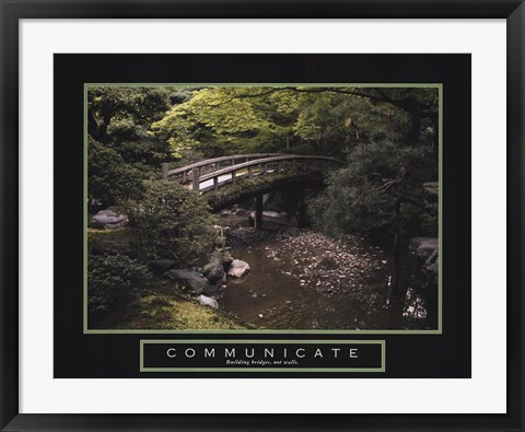 Framed Communicate - Bridge Print