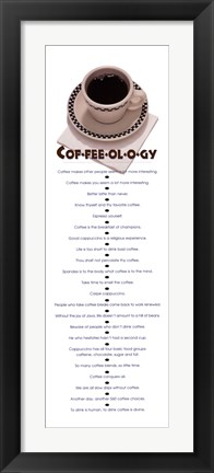 Framed Coffeeology Print