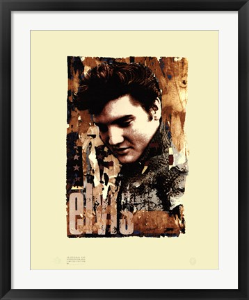 Framed Elvis Slick Print