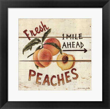 Framed Fresh Peaches Print