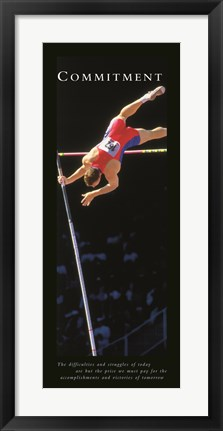Framed Commitment  Pole Vaulter Print