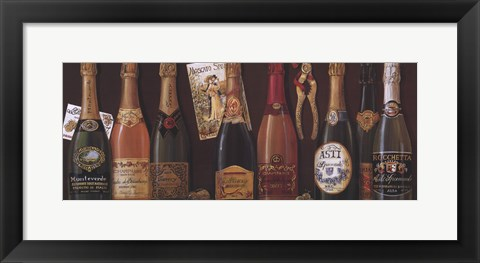 Framed Champagne Panel Print