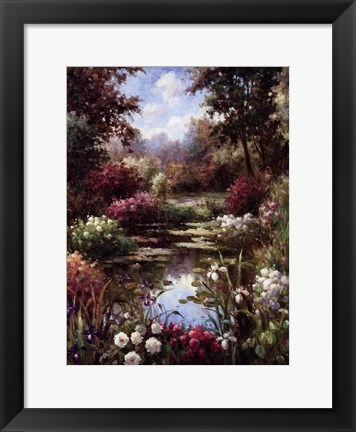 Framed Reflections Of Spring Print