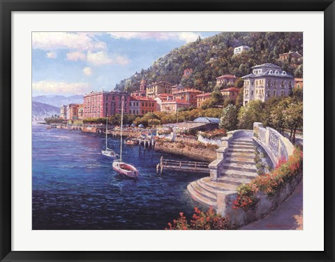 Framed Lakes of Bellagio Print
