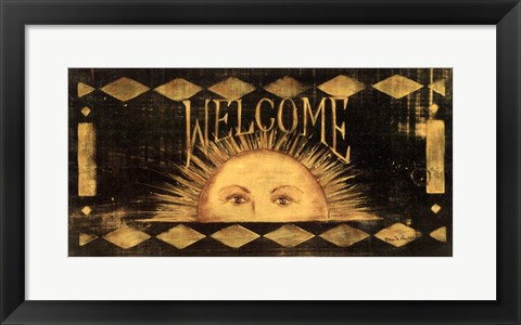 Framed Welcome Sun Print