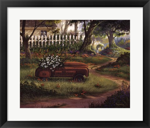 Framed Hero's Garden Print