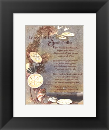 Framed Legend of Sand Dollar Print