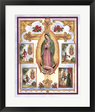 Framed Lady of Guadalupe Montage Print