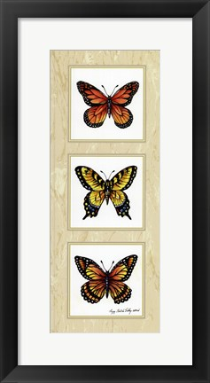 Framed Monarch Butterflies Print