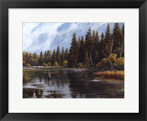 Framed Fly Fishing Print