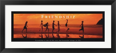 Framed Friendship Rare And Beautiful Print