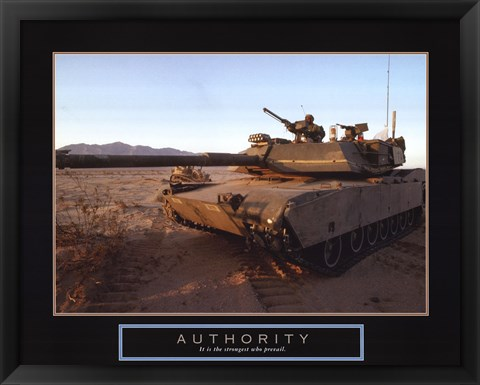 Framed Authority - Tank Print