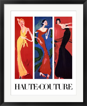 Framed Haute-Couture IV (Three Up) Print
